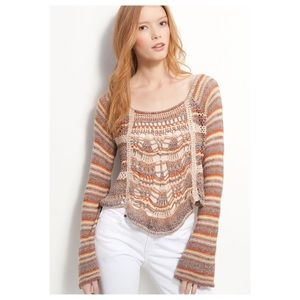Free People Phoenix Pullover Sweater in Spice Sz.M